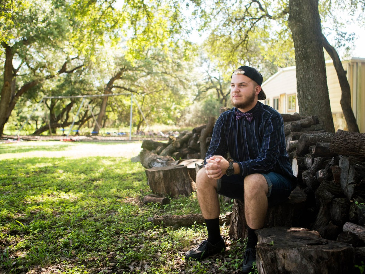 David, 18, moved to SJRC in Bulverde about a year ago after living in an emergency shelter. Photo by Kathryn Boyd-Batstone.