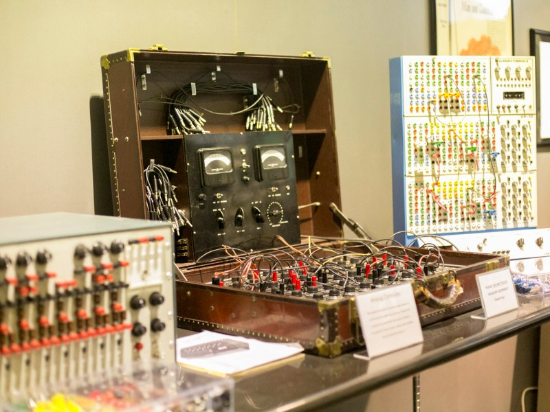 A historic analog computer with functioned on continuous analog voltages and currents rather than digital ones and zeros. Photo by Kathryn Boyd-Batstone.