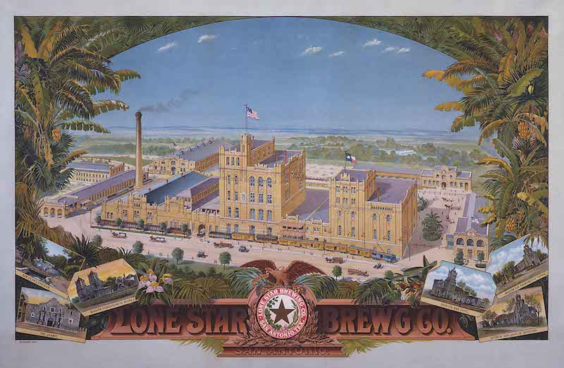 Lone Star Brewing Company, Oil on tin. Image courtesy of San Antonio Museum of Art.
