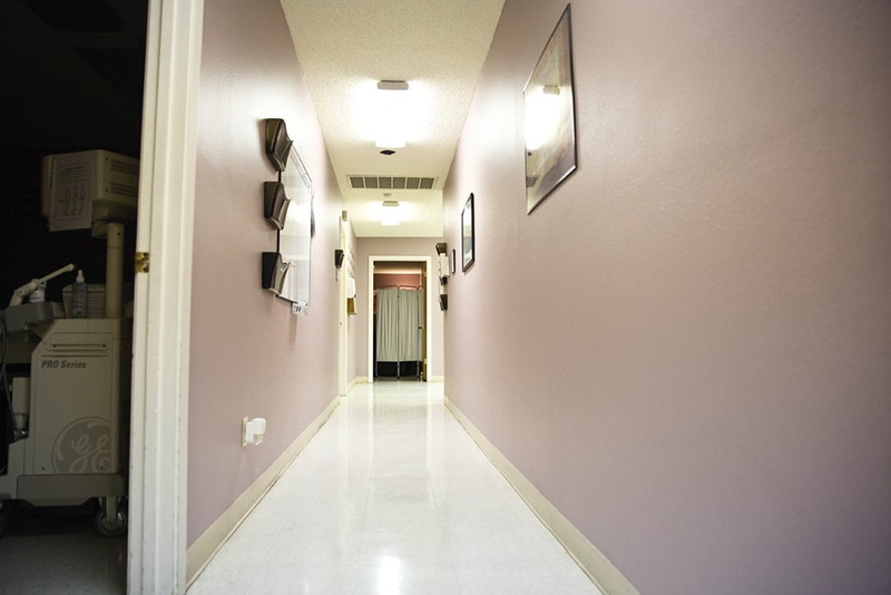 A hallway at the Whole Woman's Health clinic in Austin. Photo by Callie Richmond.
