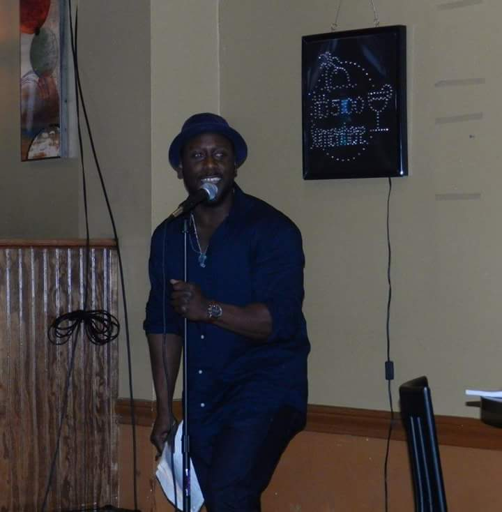 Jamaal Alejandro performs as host of P.w.A at The Tavern.  Photo courtesy of Lique Outland