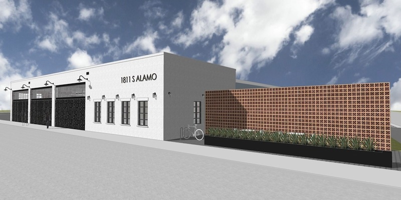 A rendering of the new office and and retail space at 1811 S. Alamo St. Image courtesy of AREA Real Estate.