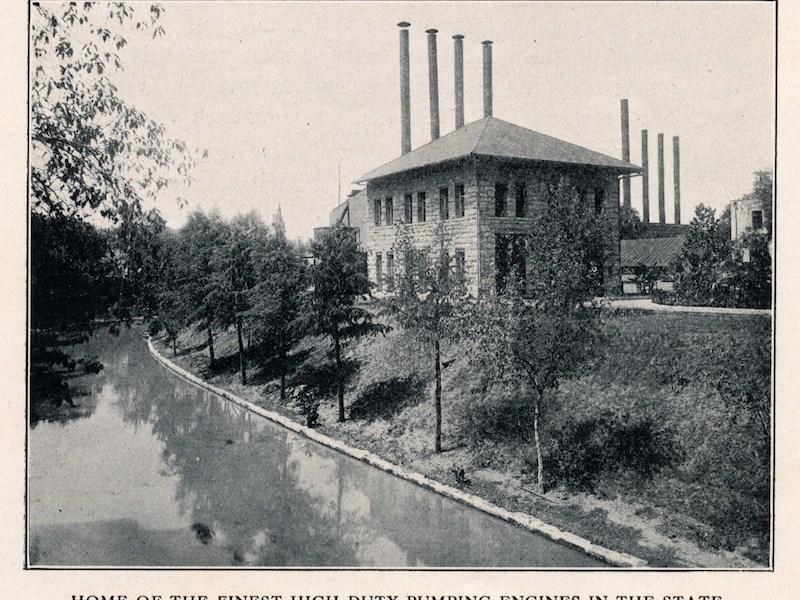Market Street Pump Station in 1914. Photo courtesy of Gregg Eckhardt.