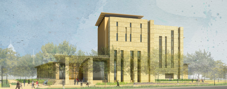 Revised conceptual rendering of the new San Antonio Federal Courthouse project. Image courtesy of Lake/Flato Architects. uploaded 8/24