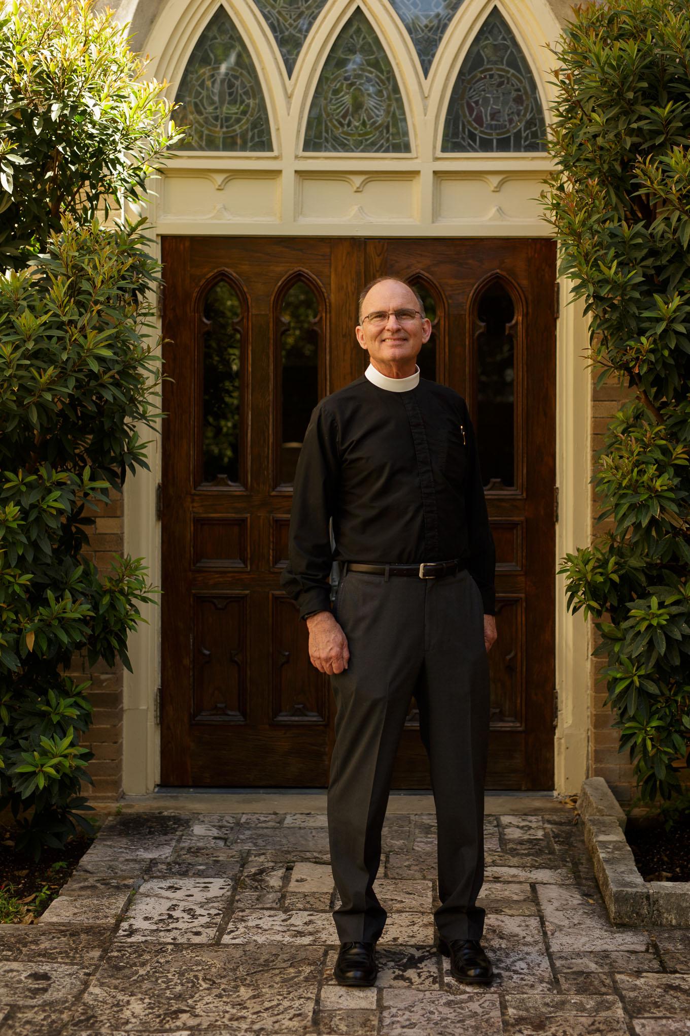 Rector Patrick Gahan of Christ Episcopal Church. Photo by Scott Ball.