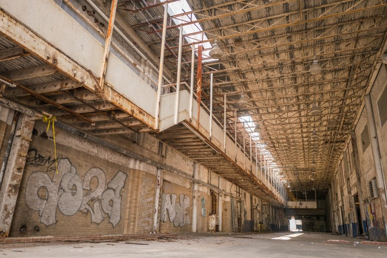 A long strip of industrial space will be repurposed in the future plans of Lone Star Brewery. Photo by Scott Ball.