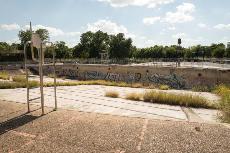 The original olympic sized pool will be repurposed into a green space and amphitheater. Photo by Scott Ball.