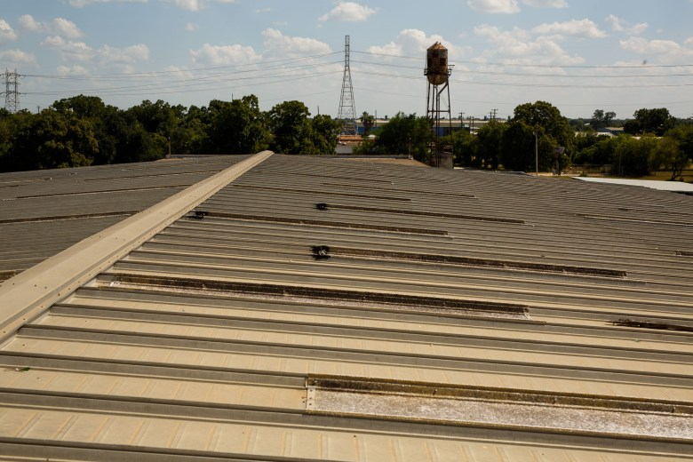 The water tower will remain a fixture at the Lone Star Brewery. Photo by Scott Ball.