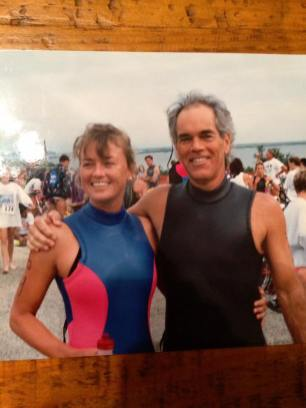 Former U.S. Pentathlon team member Sharon Sander with friend and fellow Concord member Michael Kelley. Photo courtesy of Michael Kelley.