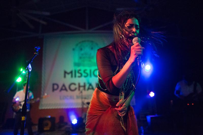 Daniela Riojas performs during Mission Pachanga. Photo by Michael Cirlos.