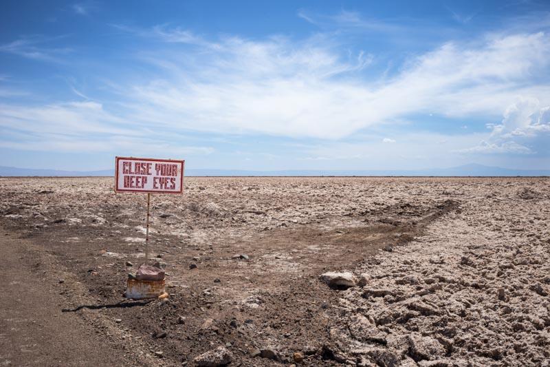 Poem 8, Line 8, from the series Road Verse 2016, Atacama Desert, Chili. Photo by Scott Martin.