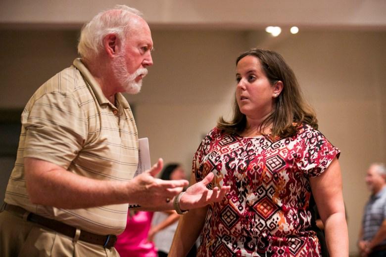 Stage Director and San Antonio Orepa Principal soloist Jacquelyn Matava speak during a rehearsal. Photo by Kathryn Boyd-Batstone.