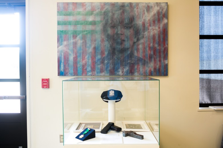 An exhibit in honor of Moira Smith, the only female NYPD officer to die on Sept. 11. Photo by Kathryn Boyd-Batstone.