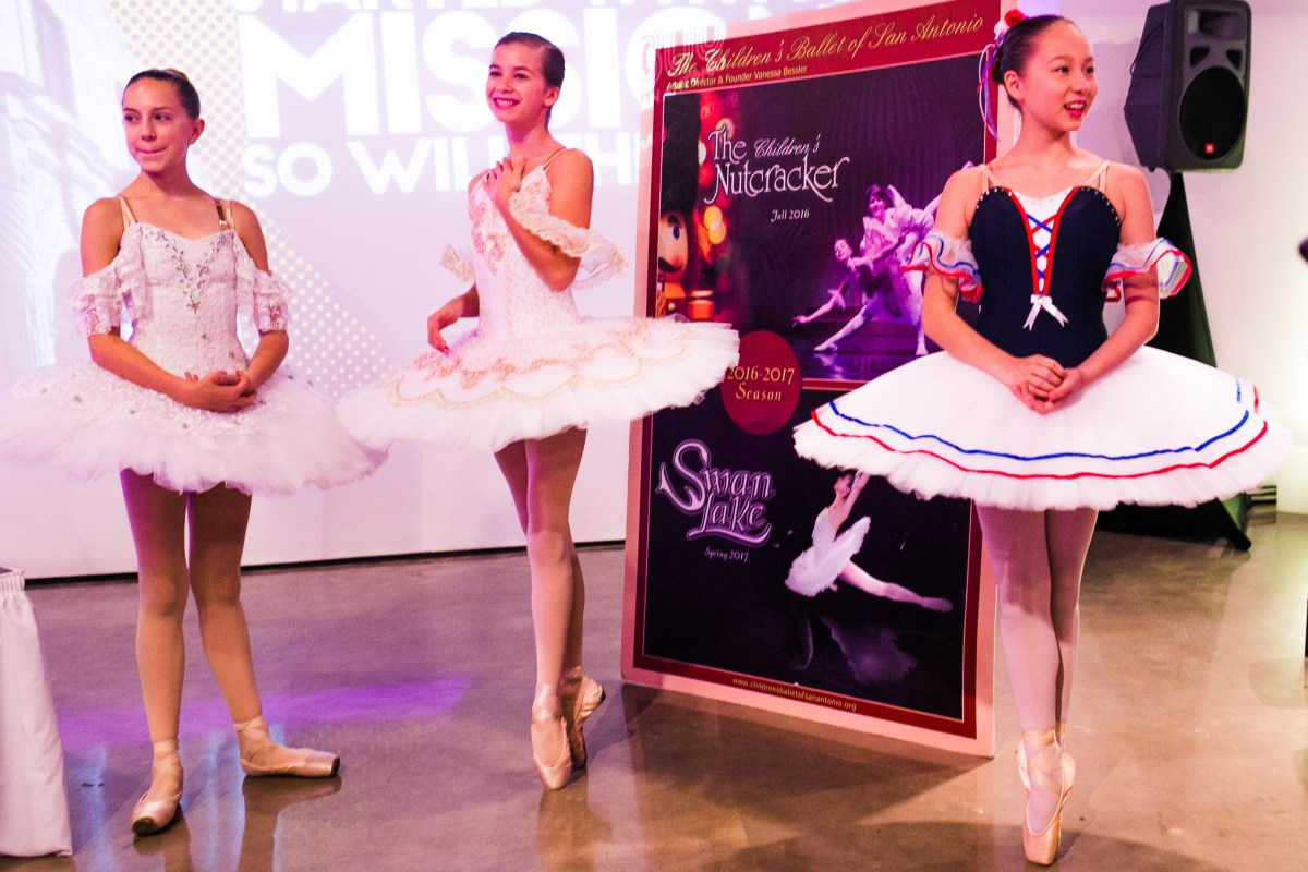 Dancers from The Children's Ballet of San Antonio wait for the presentation to start. Photo by Kathryn Boyd-Batstone.