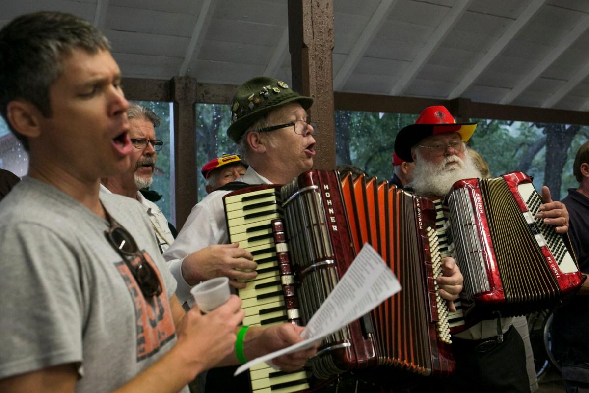 The Beethoven Maennerchor perform at Parktober Fest. Photo by Kathryn Boyd-Batstone.