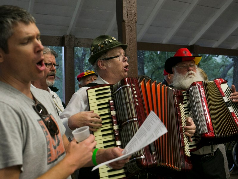 The Beethoven Maennerchor perform at Parktober Fest. Photo by Kathryn Boyd-Batstone.