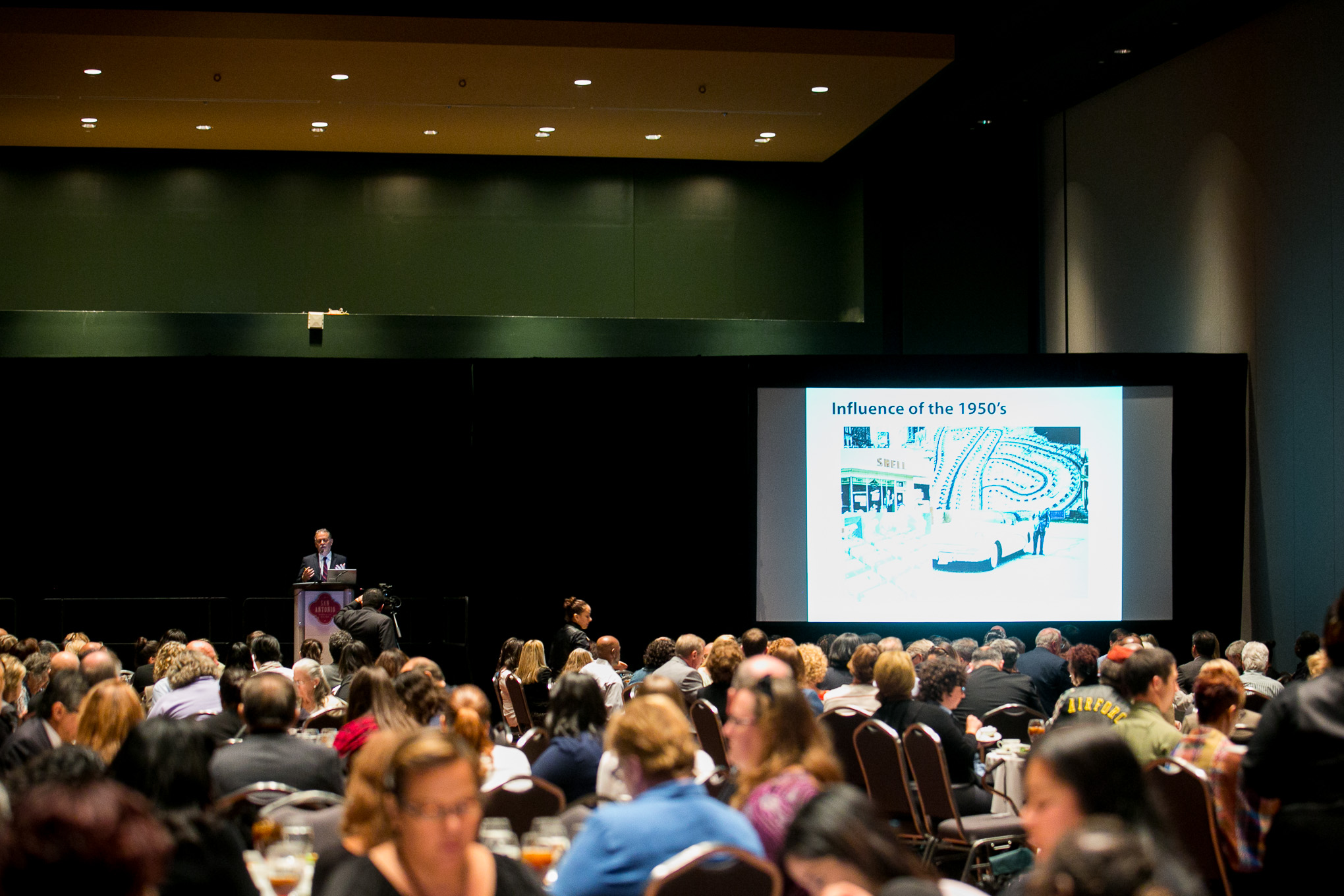 City of San Antonio 2016 Mayor's Housing Summit keynote speaker John Fregonese speaks about public planning. Photo by Kathryn Boyd-Batstone.