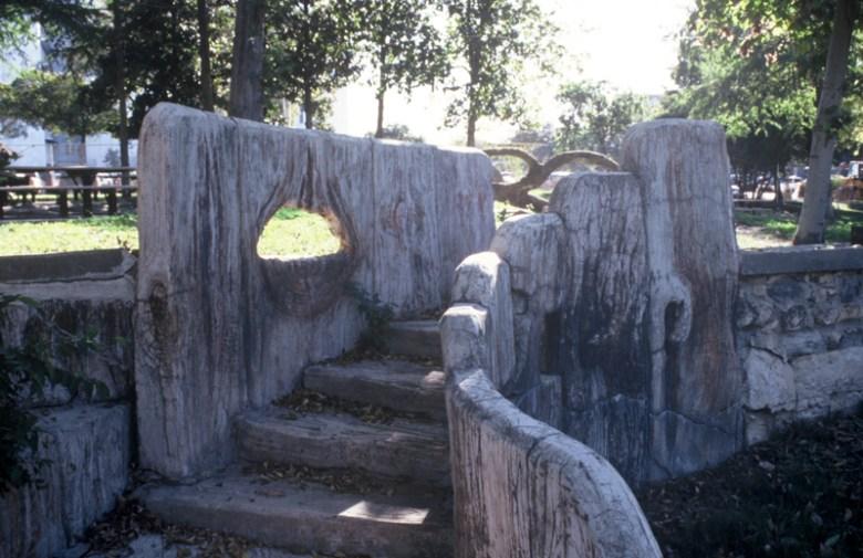 Faux bois staircase by sculptor Dionicio Rodriguez, circa 1923. Photo by Elise Urrutia.