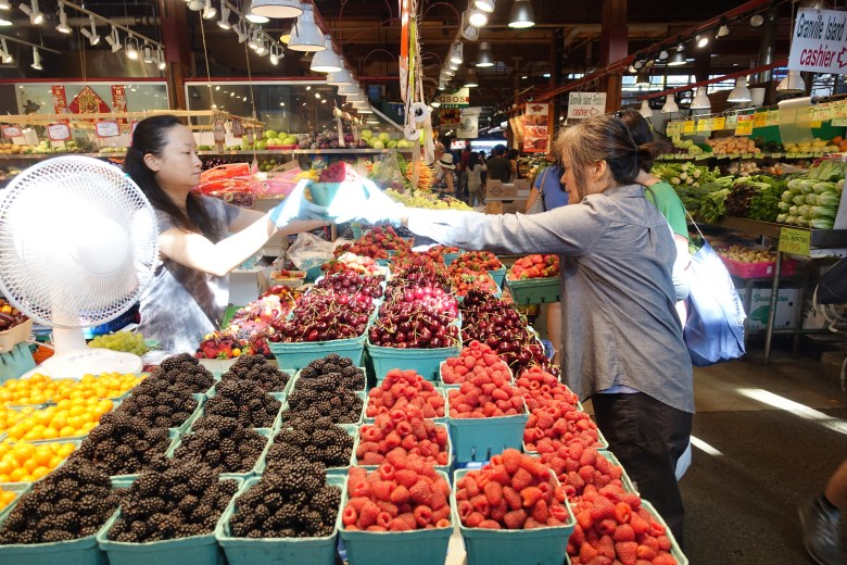 Granville Island Market in Vancouver. Photo by Robert Rivard.