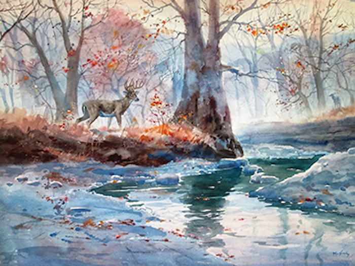 """""""Encounter"""" by Clay McGaughy."""