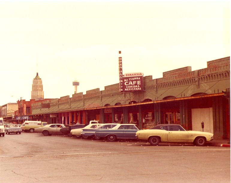Before management extended the Mi Tierra patio, there was room to park outside. Photo courtesy of Mi Tierra Panadería & Café.