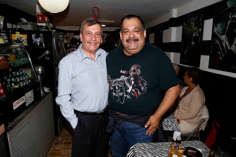 Jorge Canavati with Ricardo Chelen at Jazz Pizza Café.  Photo courtesy of Agustin Salinas, Office of Communications for Mexico City