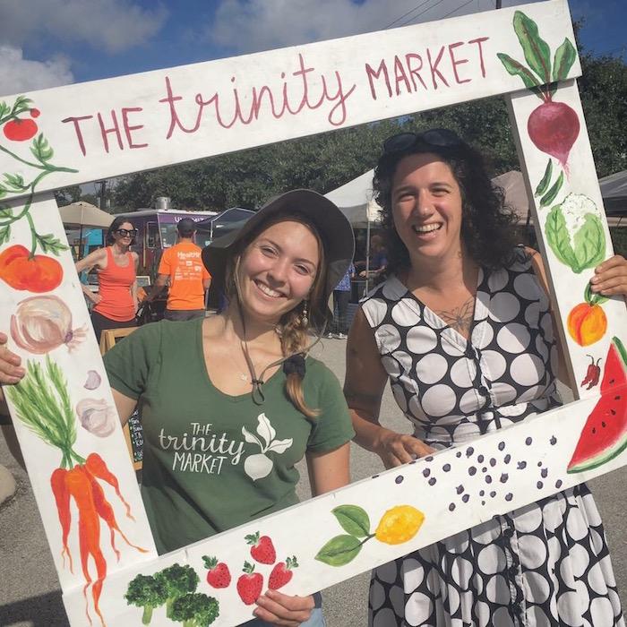 Hayley Sayrs (left) with Anna Macnak at The Trinity Market. Photo courtesy of Anna Macnak.