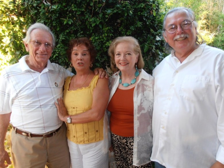 From left: Jim and Lorena Johnson take a picture with Janis and Jose de Lara.  Photo by Nancy Cook-Monroe.