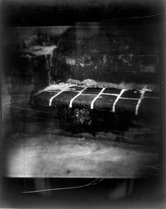 Untitled (Brick Bench), 1988-89, silver gelatin print on aluminum panel, 60 x 48 in., (not in exhibition). Photo courtesy of the Kent Rush.