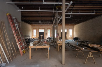 The inside of the vacant Hammond building at 1120 E. Commerce St. Photo by Scott Ball.