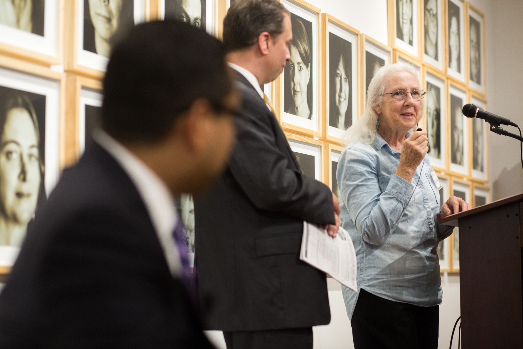 SAISD Board President Patti Radle gives opening remarks before 'Ed Chat'. Photo by Scott Ball.
