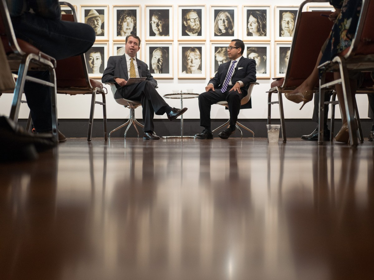 SAISD Superintendent Pedro Martinez participates in 'Ed Chat' with State Representative Diego Bernal (D123). Photo by Scott Ball.