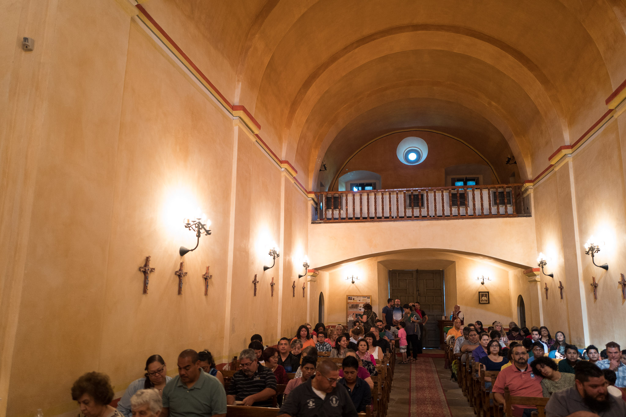 A full mass at Mission Concepción on Sunday September 11, 2016. Photo by Scott Ball.