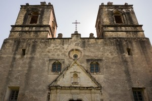The front façade of Mission Concepción. Photo by Scott Ball.