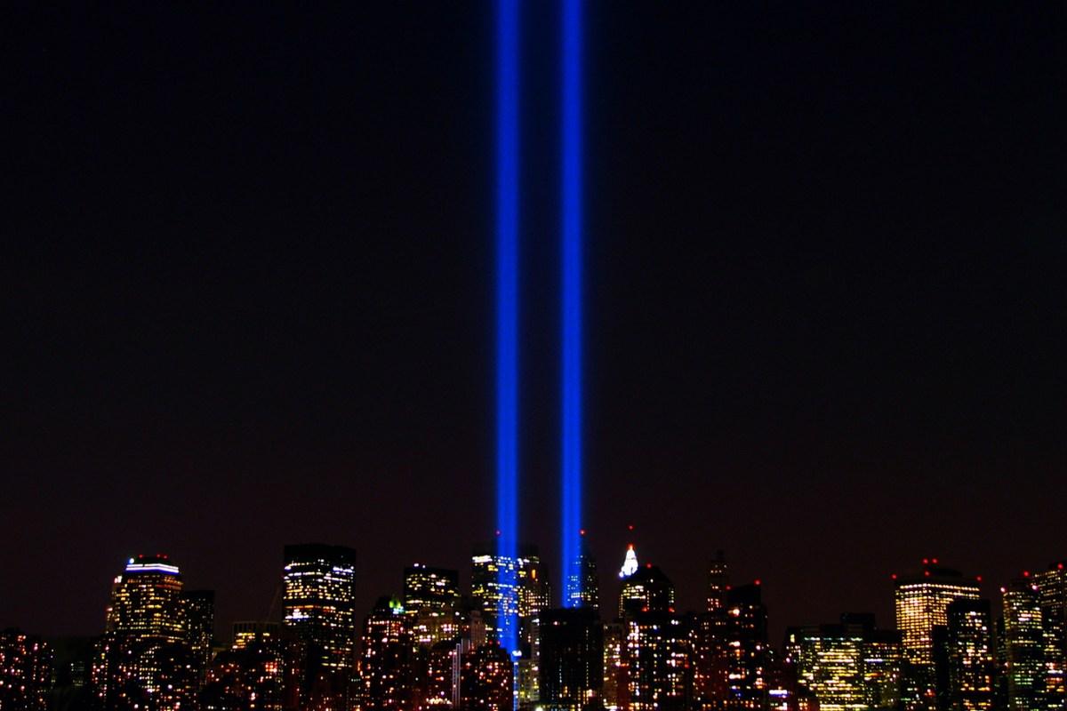 World Trade Center lights. Photo courtesy of Flickr user Scott Hudson, Creative Commons.