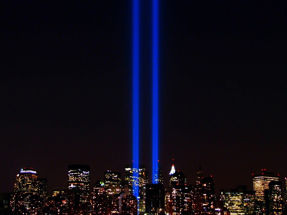 World Trade Center lights. Photo courtesy of Flickr user Scott Hudson, Creative Commons.