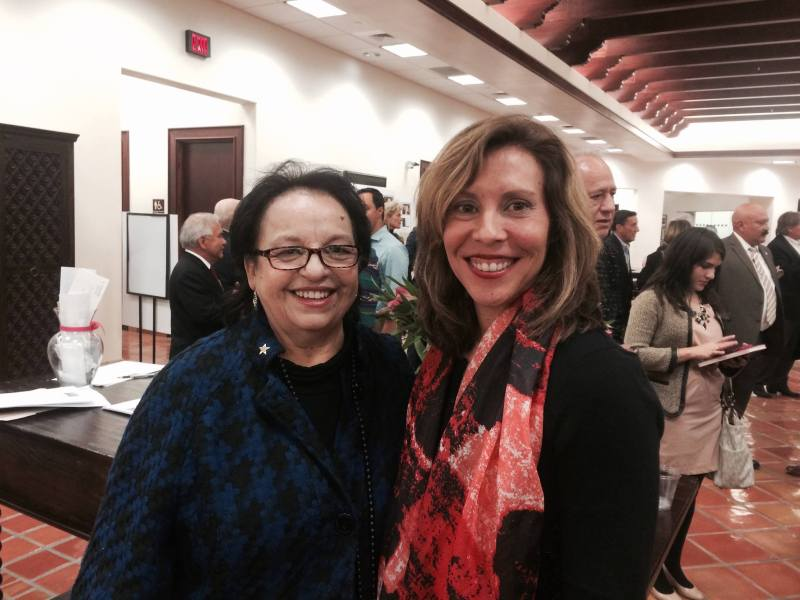 Choco Meza and Councilwoman Shirley Gonzales (D5).
