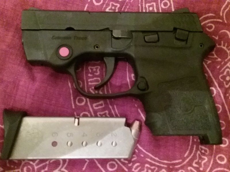 Sohocki's gun, a Smith and Wesson M&P Bodyguard .380.