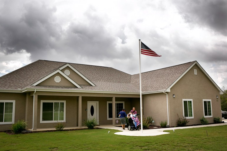 The Alvarados were gifted a handicapped-accessible home built especially for Luis by Homes for Our Troops. This ensured that Luis could live at home with his parents instead of at an institution. Photo by Kathryn Boyd-Batstone.