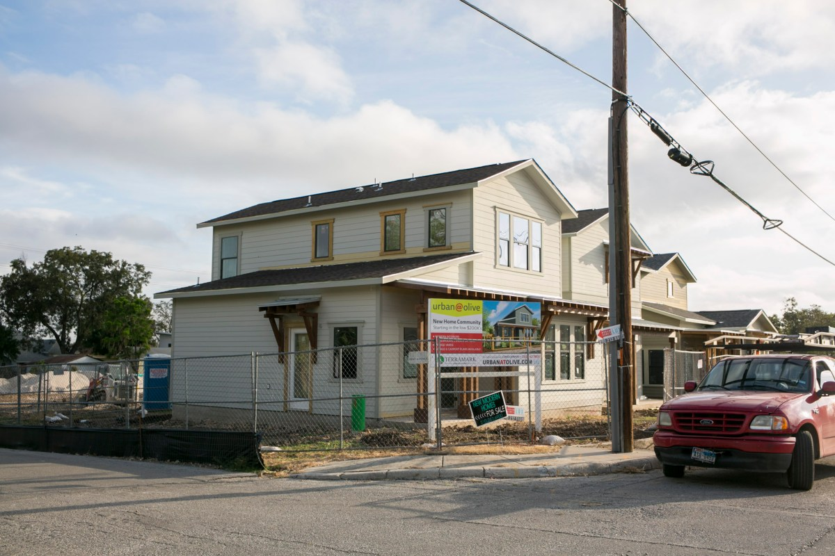 Development continues for single family homes on Burleson and Olive St.