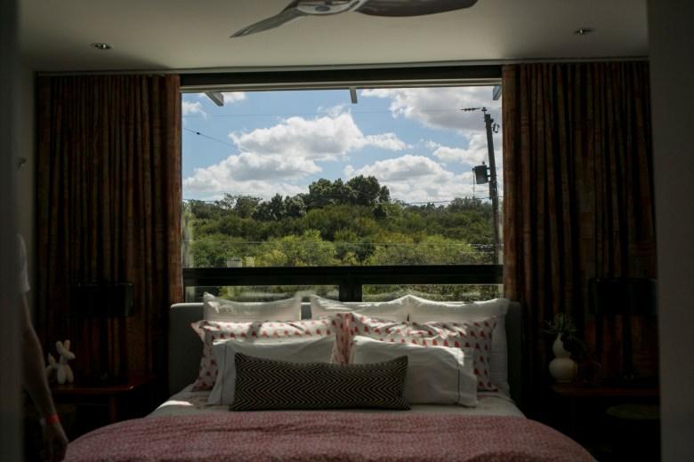 A bedroom at 401 Ogden Lane.