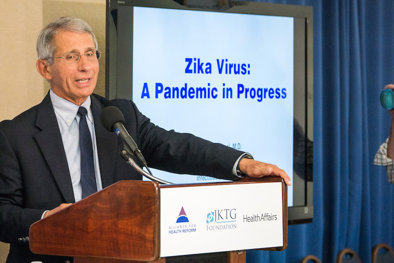 NIAID Director Dr. Anthony Fauci speaks at an Alliance for Health Reform event, Aug. 11, 2016. Photo by Karl Eisenhower via Flickr user Alliance for Health Reform.
