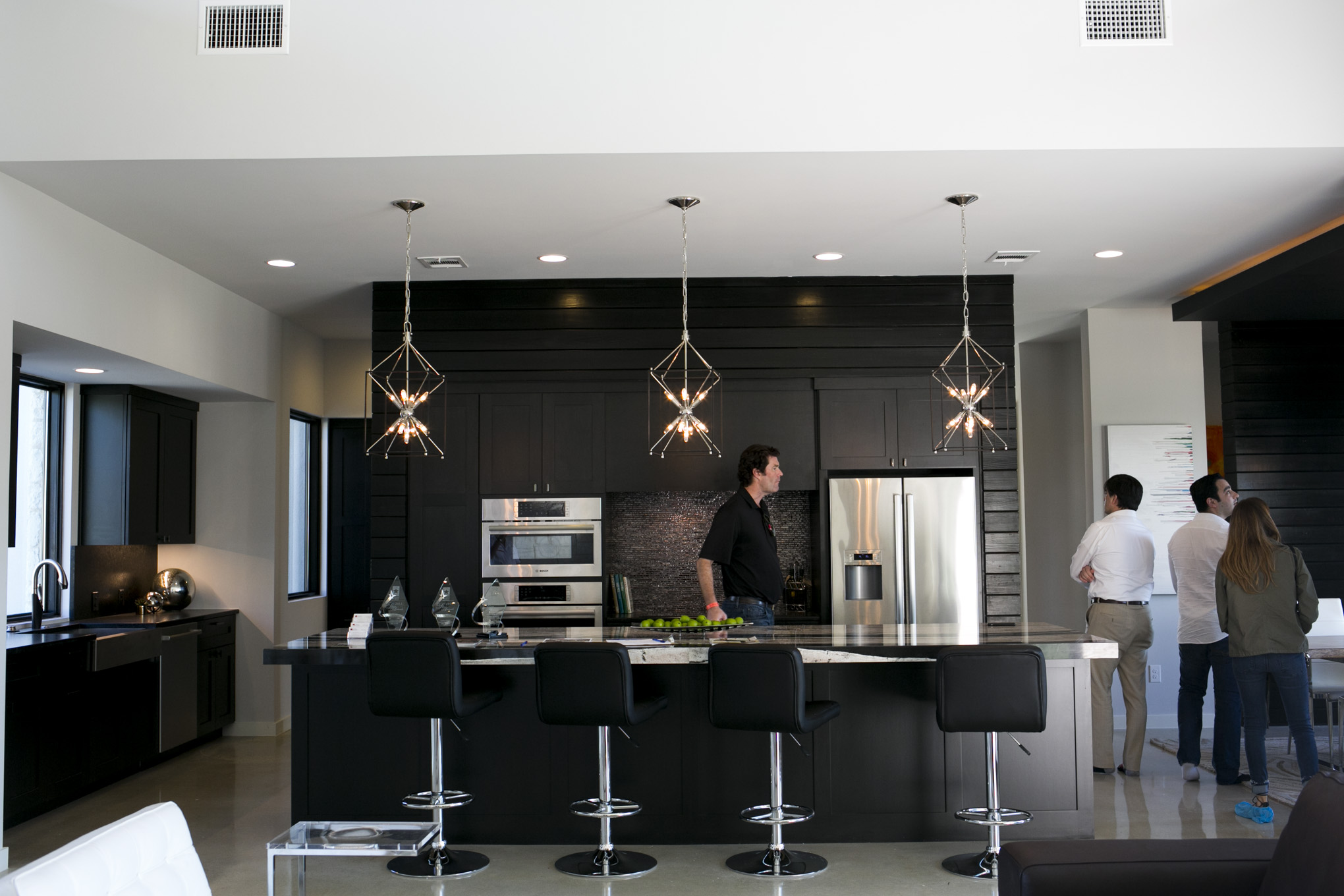 The kitchen of 23421 Edens Canyon in The Canyons at Scenic Loop.