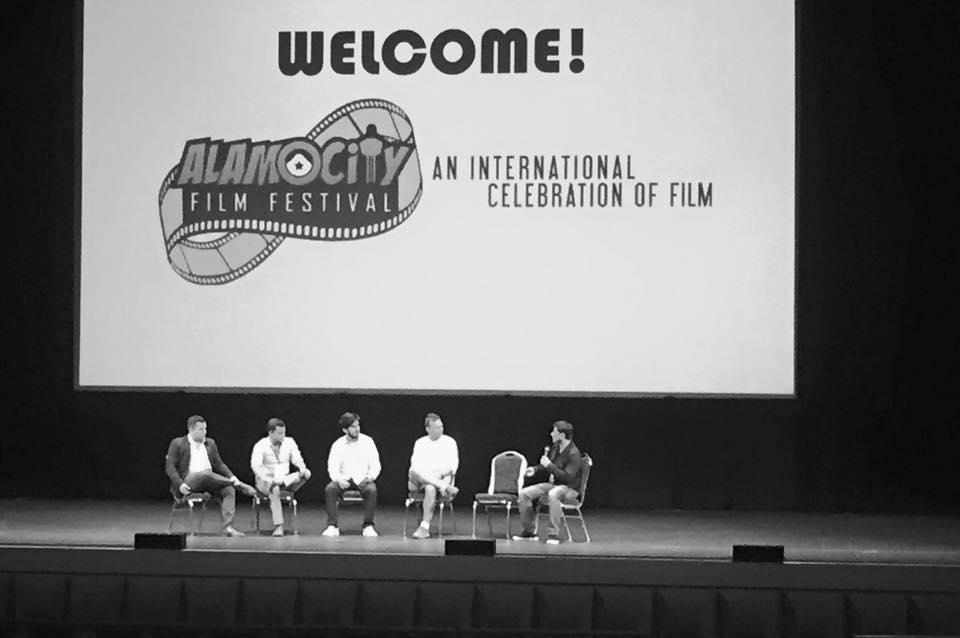 A panel discussion at the 2015 Alamo City Film Festival.