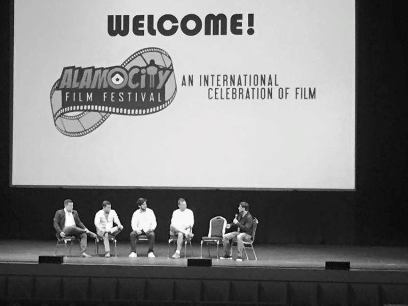 A panel discussion at the 2015 Alamo City Film Festival.