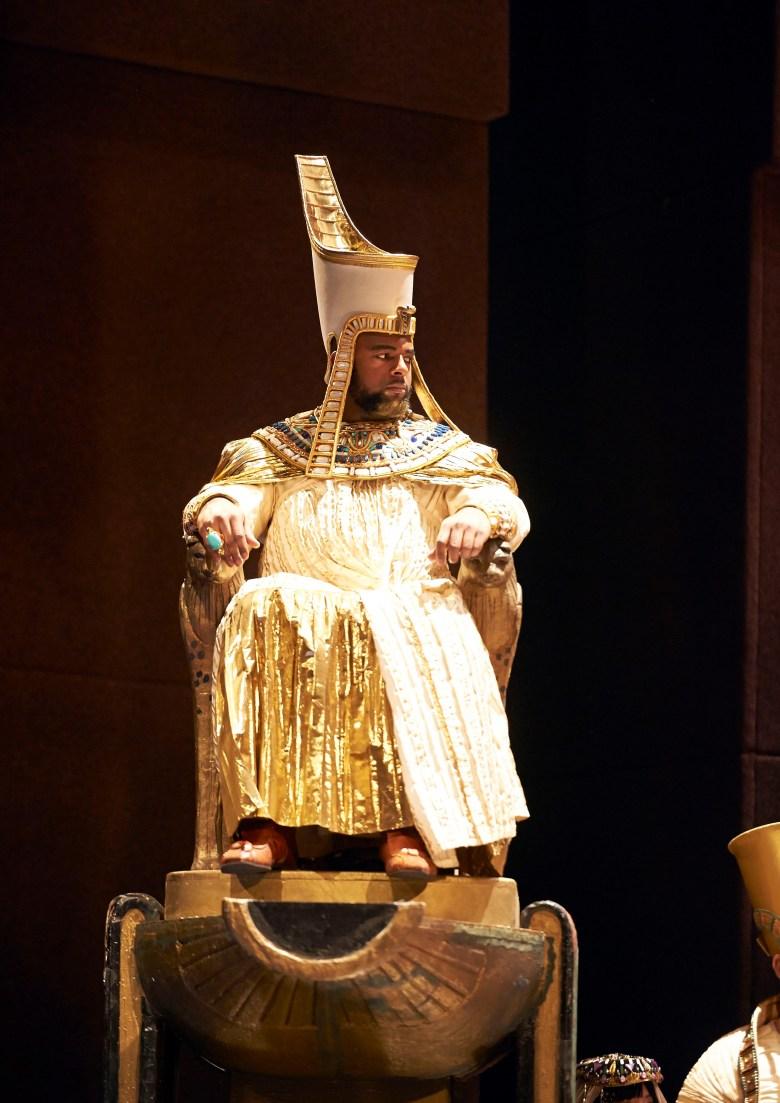 Ryan Speedo Green as the King of Egypt in Aida, an opera by Giuseppe Verdi.