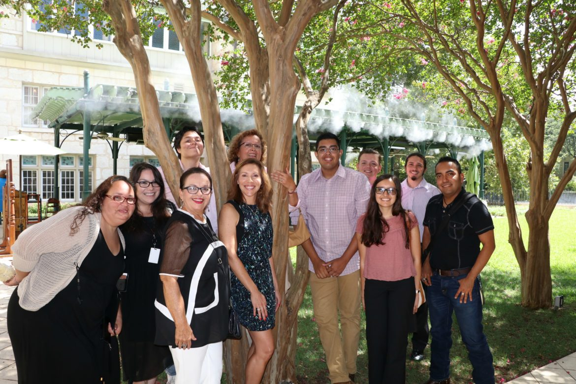 Choco Meza and Councilwoman Shirley Gonzales (D5) pose with District Five interns.