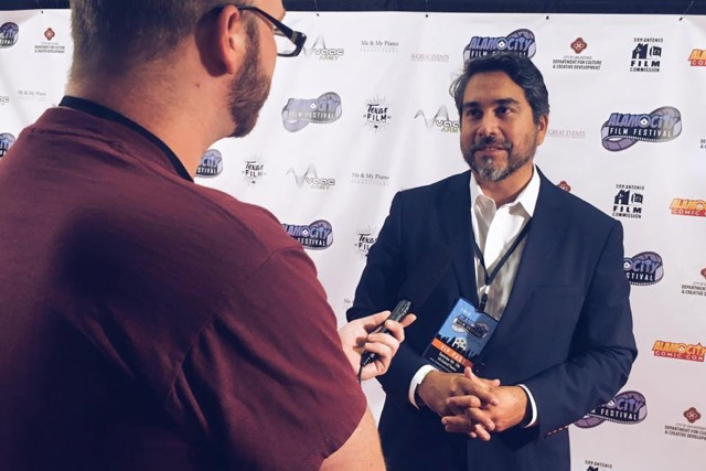 Councilman Robert Treviño (D1) is interviewed during the 2015 Alamo City Film Festival.