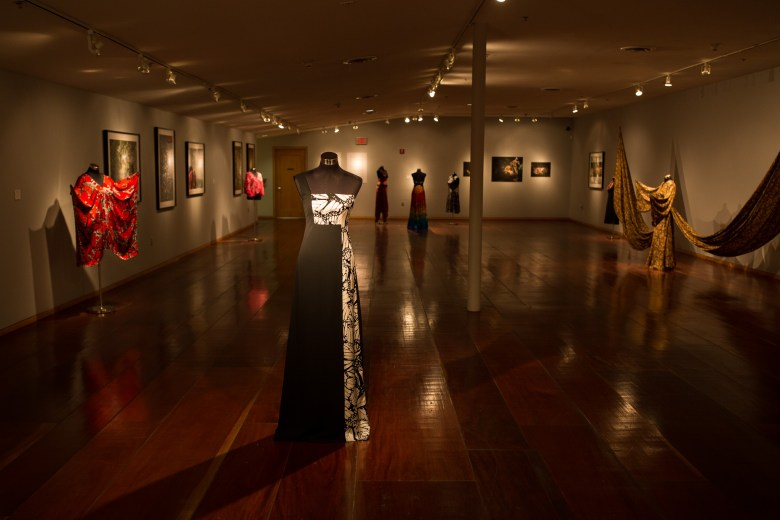 Gallery space at Instituto Cultural de México at Hemisfair was filled with butterfly-inspired clothing and photography.