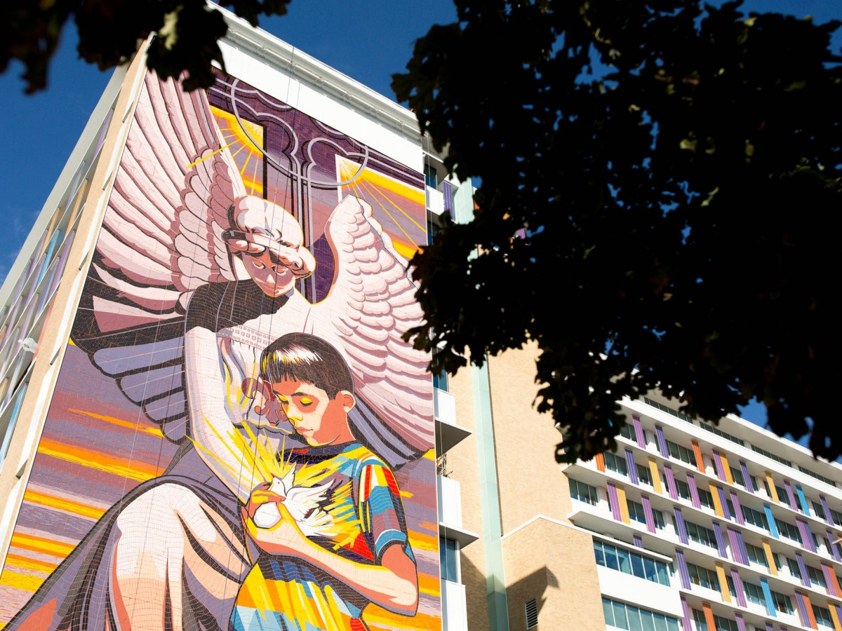 Spirit of Healing mural by local artist Jesse Trevino is a prominent feature to the Children's Hospital of San Antonio.